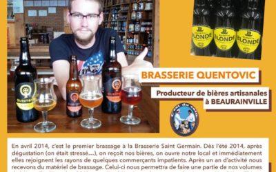 La bière artisanale Quentia membre des alliances locales chez Leclerc