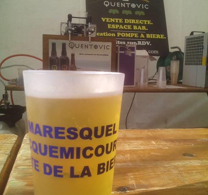Une pompe à bière Quentovic à la fête de Maresquel-Ecquemicourt