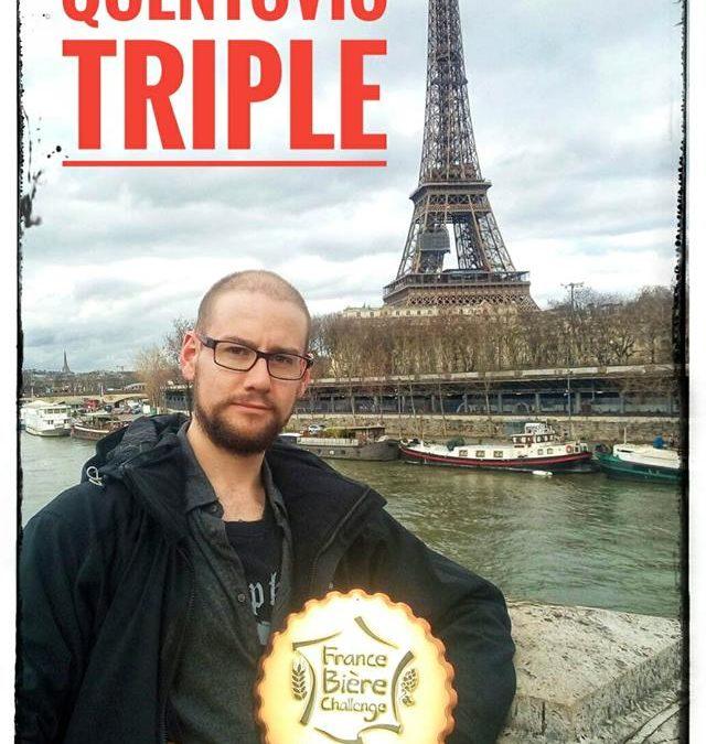 La triple quentovic médaille de bronze au france bière challenge