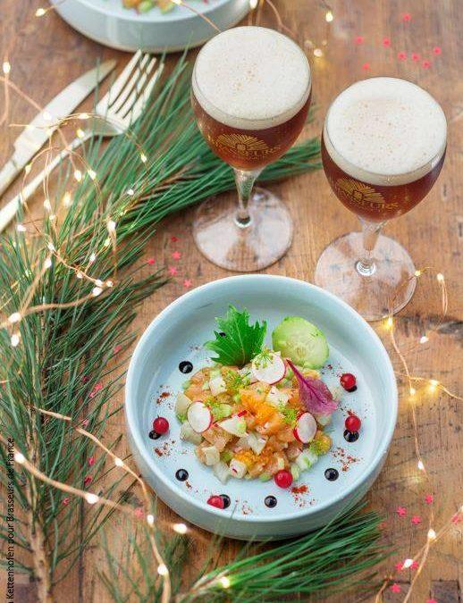 Recette bière de Noël : Tartare de saumon et de haddock