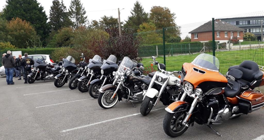 Visite de bikers à la brasserie quentovic